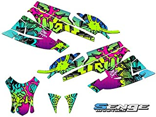 Compatible with Arctic Cat 2005-2006 Firecat/Sabercat Zany Green Graphics kit