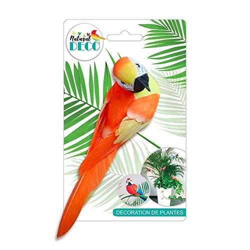 STC Déco Plantes – Grand Oiseau Orange CD3821
