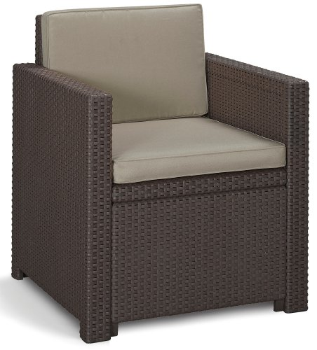 Allibert Lounge Set Victoria Balcony, Braun, 3-teilig - 2