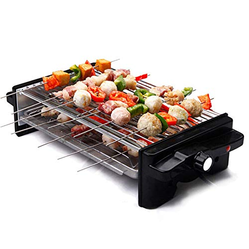 Buy Bargain KIKBLW Double Layer Electric Grill, Electric Grill Stove Smokeless Household Oven Barbecue Cooker BBQ Kebab Machine Layers Hotplate Pan Teppanyaki Heater