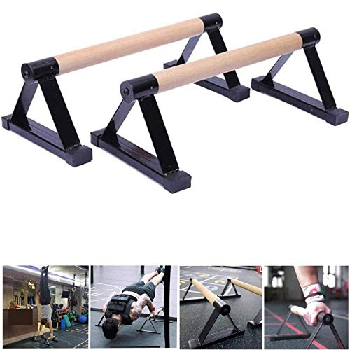 Pushup Stands -Calisthenics Handstand Single Double Handles Pushup Stands Solid Exercise Wooden Push Up,Size:50CM