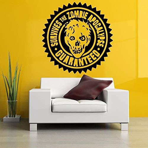 Olivialulu Zombie Stempel Hoofd Muurstickers voor Woonkamer Halloween Decoratie Wallpaper Home Sticker Vinyl Decals Achtergrond Muren L403 57X57cm Other Color Choice