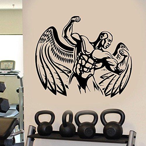YIYEBAOFU Amelia Rose Wandsticker Rey , Fitness Bodybuilding Fitness Familie Dekoration Flügel Kraft schönen Körper Wandtattoo Vinyl abnehmbar75x63cm