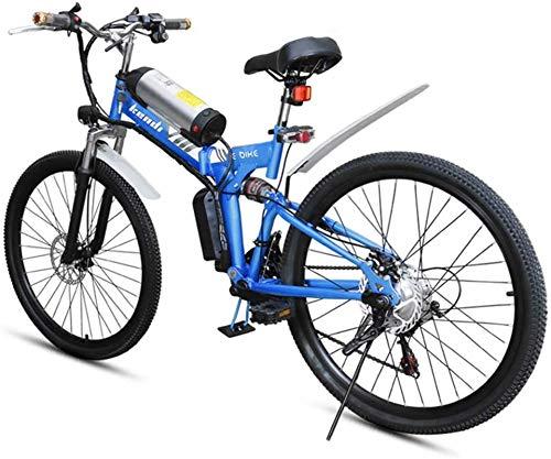 Ebikes, Bicicleta eléctrica Plegable, Bicicleta eléctrica portátil de 26 Pulgadas con Marco de Acero Altamente de Carbono Freno de Disco Doble con luz LED Frontal 36V / 8AH ZDWN