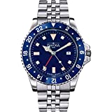 Davosa Swiss Made Quartz Quality Watch - Luxury GMT Dual Time Analog Dial Vintage Fashion Watch with...