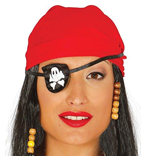 Fiestas Guirca Pirate crâne os croisés en Blanc Imprimer Pansement Tissu Corsair
