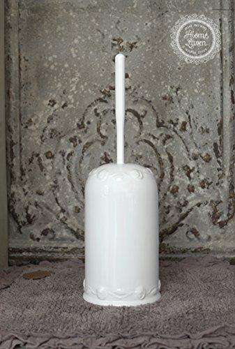 Flair Vitrine WC Garnitur Bürstengarnitur -Juliet- Keramik weiß Bad Landhaus Shabby French