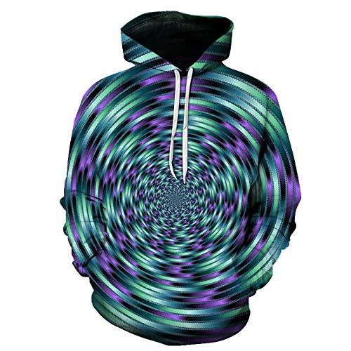Hoodies Pullover 3D Wasserwirbel Druck Unisex Strickjacke Männer Frauen Langarm Sweatshirts Uniform Pullover Outdoor Freizeitclub Straße Hip Hop, S