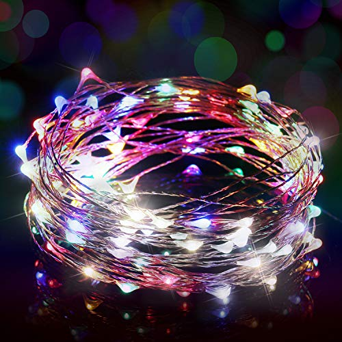 Fairy Lights USB, Ariceleo 5M 16 Ft. USB Powered Led Fairy Lights, 50 LEDs USB Plug in String Lights Firefly Lights for Bedroom, Chirstmas, Xmas, Computer (Multi Color)