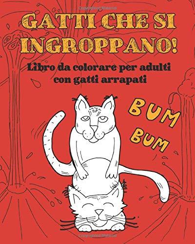 Gatti che si ingroppano: Libro da colorare per adulti con gatti arrapati. Idea regalo scherzo divertente e libro rilassante da colorare! (Per amanti dei gatti)