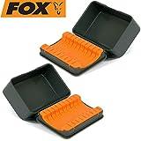 FOX F Box Hook Storage case L - 2 Kleinteilboxen für Karpfenhaken, Angelbox für Angelhaken zum...