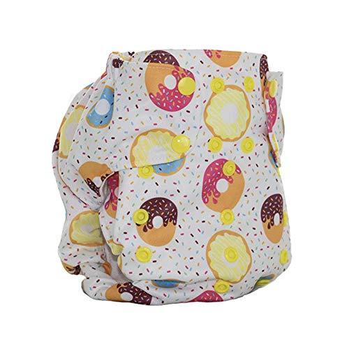 No Prep Organic Cloth Diaper – Smart Bottoms Dream Diaper 2.0 – Washable, Reusable – Natural Fiber Interior (Sprinkles)