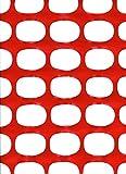 Tenax Area rete per delimitazione cantiere in polietilene alta densità. Colore arancione. mt. H. 1,20x50