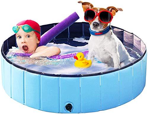 FayTun, piscina plegable para mascotas, bañera de PVC duradero, antideslizante para exterior/interior, bañera plegable para perros pequeños (20 x 80 cm) (30 x 120)
