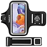 LG Stylo 6, 5, K51, V60 ThinQ, Velvet 5G Armband, BUMOVE Gym Running Workouts Phone Arm Band for LG Stylo 6/5/4, LG K51/K92/V60 ThinQ/Velvet with Key/Card Holder (Black)