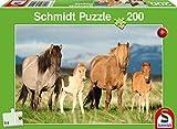 Schmidt Spiele 56199Caballos Familia Puzzles, 200Piezas