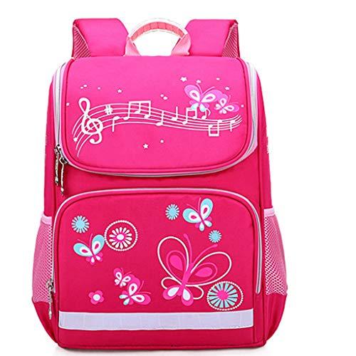 GroßE KapazitäT Rucksack/Daypack,TTLOVE Wasserdicht Und Lastreduzierend Schultasche MäDchen Kinder Schulrucksack Cartoon Mode Rucksack(Pink,25x10x12 cm)