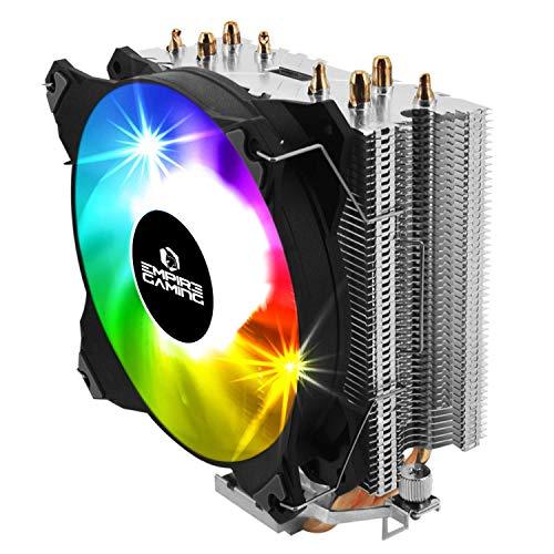 EMPIRE GAMING - Guardian S-V100 Dissipatore per CPU PC Gaming -Ventole RGB SYNC Indirizzabile - Ventilatore di Processore Alluminio 4 Heat Pipe in Rame -CPU Gamer Silenzioso -Intel e AMD