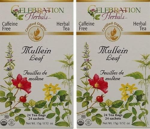 Celebration Sales for sale Herbals Organic Mullein Leaf Tea New mail order Free P - 2 Caffeine