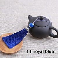 2個/ロットシルクタッセルフリンジブラシスリングタッセル縫製カーテン用ペンダントジュエリーDIYのウェディング装飾 liuhaiweiribeng (Color : 11 royal blue)