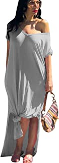 Mintsnow Maxi Dresses for Women Summer Loose - Casual Summer Beach Split Long Dresses