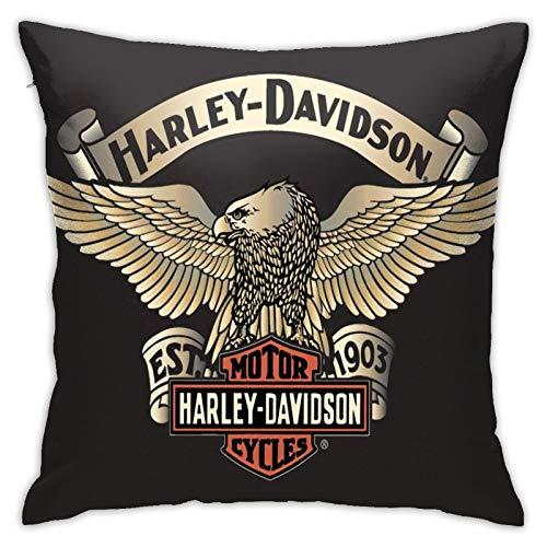longdai Harley Davidson - Funda de cojín decorativa para sofá, silla, sofá, dormitorio, 45 x 45 cm