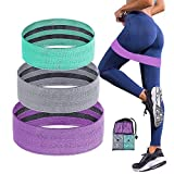 COVVY Booty Bands, 3 Levels Non-Slip Resistance Bands for Women Butt and Legs, Sturdy Fabric Fitness Workout Bands Exercise Bands for Home Gym Squat Glute Hip Thighs Training - 3 Packs