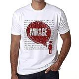 Photo de Homme T Shirt Graphique Imprimé Vintage Tee Thoughts Mirage Blanc