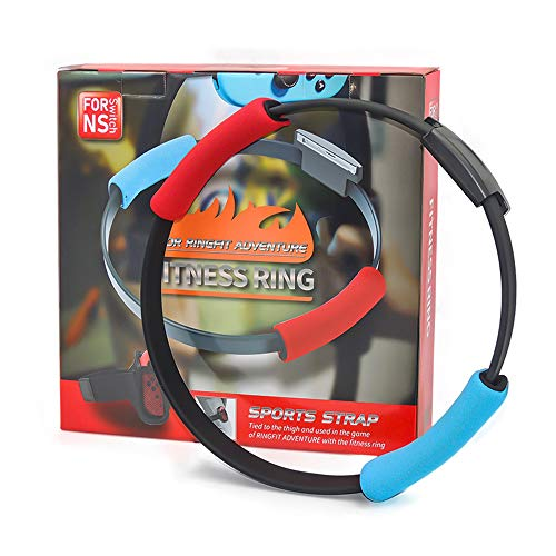 Ring Fit Bundle for Nintendo Switch Adventure Game - Ring Fitness, Elastic Leg Fixing Strap and Ring Con Grip Band...
