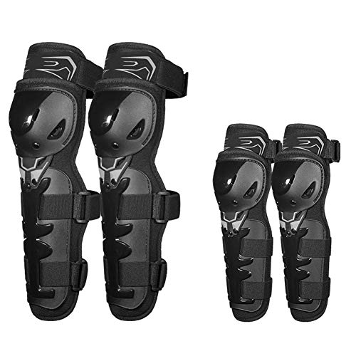 TZTED Cycling Knee Brace Bicycle MTB Bike Motorcycle Riding Knee Protective Knee Shin Guards Protector Kit Motocross Racing,Black