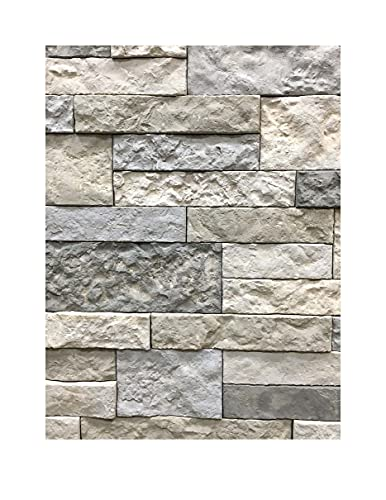 AirStone Primary Stones: Spring Creek Color Blend, Manufactured Stone Wall Covering, Indoor & Outdoor Home Décor