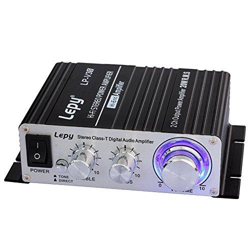 LEPY LP-V3s pequeño Amplificador de HiFi para Auto,PC, casa Corriente DC12V