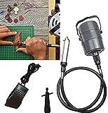 4YANG Amoladora de eje flexible 800-24000 RPM Portabrocas de 0-4.2 mm Rectificadora eléctrica colgante con control de pedal y conjuntos de accesorios Herramienta rotativa Carver