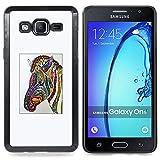 Planetar ( Portrait Frau Brunette ) Samsung Galaxy On5 O5 Handyhülle Schale Hart Silikon Hülle Schutzhülle Hülle