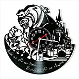 Beauty and The Beast Vinyl Clock, Beauty and The Beast Wall Clock 12 inch (30 cm), Original Gifts, The Best Home Decorations, Unique Art Decor, Original Idea for Home Decor