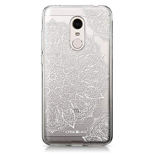 CASEiLIKE Redmi Note 5 Hülle, Redmi Note 5 TPU Schutzhülle Tasche Hülle Cover, Mandala-Kunst 2091, Kratzfest Weich Flexibel Silikon für Xiaomi Redmi Note 5