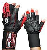 skott Talon Elite Weight Lifting Gloves - Wide Wrist Wrap Support - Genuine Leather for Extra Durability - Get Ripped with The Best Body Building Fitness and Gym Exercise Accessories (X-Large)