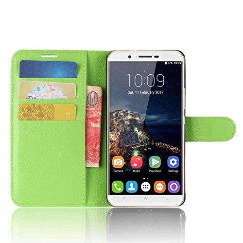 Tasche für Oukitel U16 MAX Hülle, Ycloud PU Kunstleder Ledertasche Flip Cover Wallet Case Handyhülle mit Stand Function Credit Card Slots Bookstyle Purse Design grün