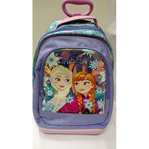 BIG TROLLEY DISNEY - FROZEN Magic Star 2018-2in1 - Zaino con spallacci a scomparsa - Azzurro Viola 31Lt