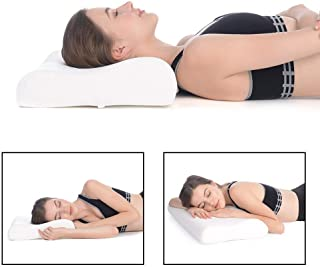 Proliva Memory Foam Pillow,Cervical Pillow for Neck Pain,Orthopedic Contour Pillow Support for Back,Stomach,Side Sleepers,Anti-Snoring Relief Neck Pillow,Anti-Allergy,Pillow for Pain Relief