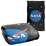 NASA Official Meatball Logo Pattern Silky Touch Super Soft Throw Blanket 36' x 58'