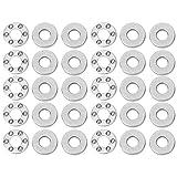 Cuscinetti in acciaio piatto a singola direzione di alta precisione con cuscinetto a sfere di spinta 10pcs impostati per produzione industriale(F4-10M 4 * 10 * 4mm)