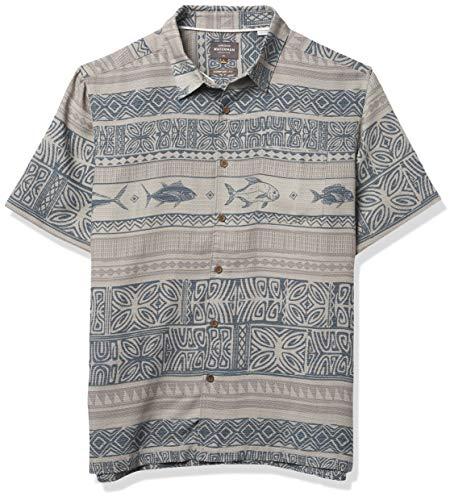 Quiksilver Herren LAKI MAIKAI Woven Hemd, Grau, X-Groß