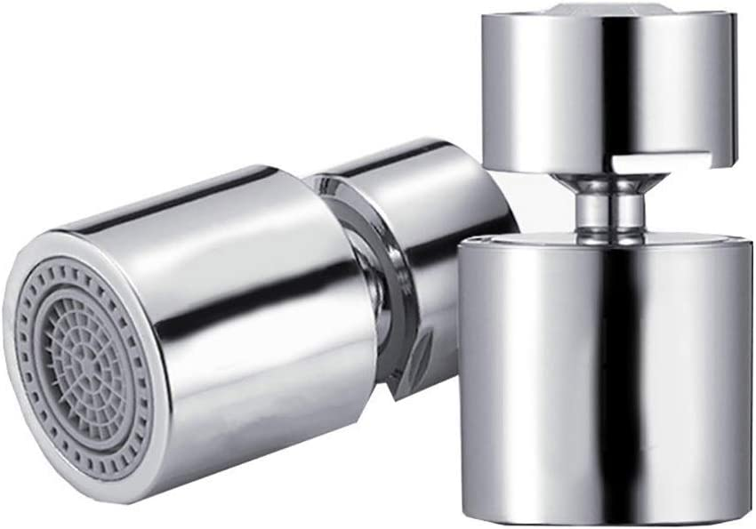 360 Rotate Faucet Kitchen Faucet Aerator Water Diffuser Bubbler Water Saving Filter Shower Head Nozzle Tap Connector Color : Silver