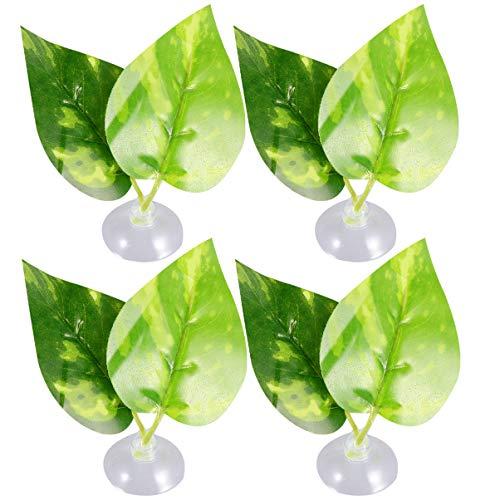 Balacoo 4Pcs Künstliche Aquarienpflanzen Betta Gefälschte Pflanzen Aquariumdekoration Kunststoffpflanzen mit Saugnapf für Aquarium Aquariumdekoration Ornament