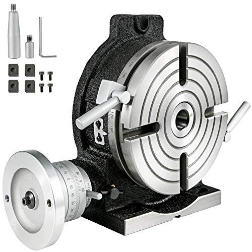 Mophorn Máquina Fresadora Taladradora Horizontal y Vertical de Precisión 3MT con Mesa Giratoria HV8 Para Fresado Taladrado Perforación de Accesorios y Muchas Aplicaciones Comunes de Taller