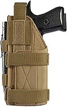 FRTKK Adjustable Tactical Pistol/Gun Holster for 1911, Ruger LCP, S&W M&P 40 Shield Bodyguard, Sig Sauer, Ruger, Kahr, Beretta, Glock 17 19 26 34 (Tan - Left Hand)
