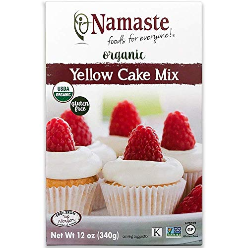 Namaste Foods Organic Gluten Free Yellow Cake Mix, 12 Ounce – Allergen Free - SET OF 4