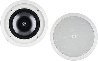 JBL SP8CII 2-Way, Round 8-Inch In-Ceiling Speaker with Swivel Mount Tweeter (Pair)