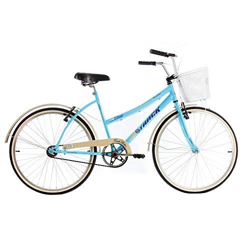 Bicicleta Confort Classic Plus Estilo Retrô Aro 26 Azul - Track Bikes